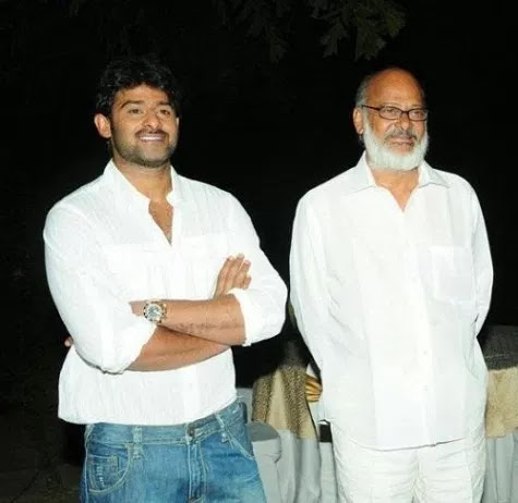 Prabhas With His Father Uppalapati Surya Narayana Raju