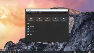 tampilan search immersive pada desktop windows 10