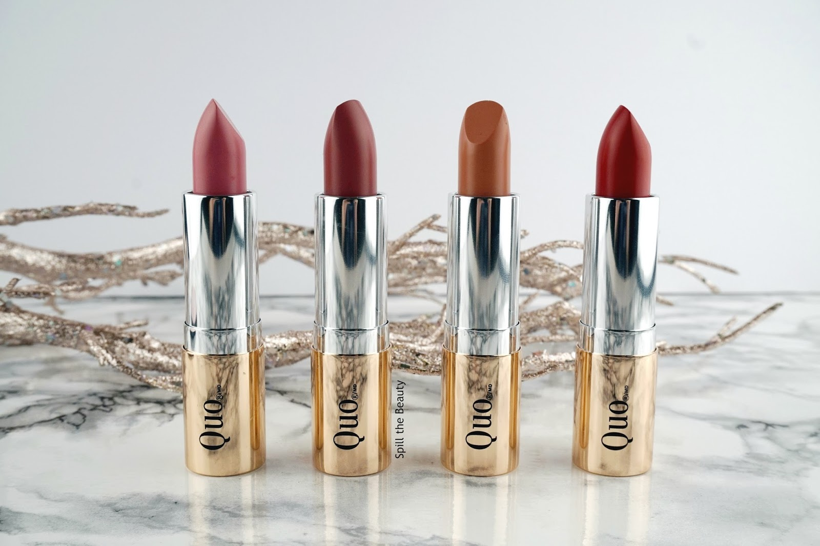 Quo Luxury Lipstick Wardrobe – Review, Swatches, and Look