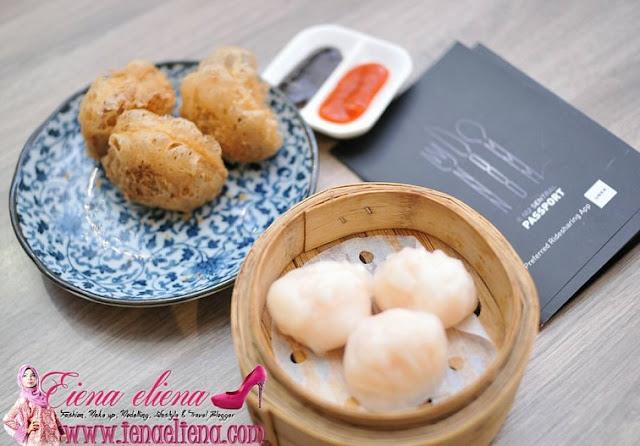 Har gao dumpling dan Yam croquette di Dolly Dim Sum Nu Sentral