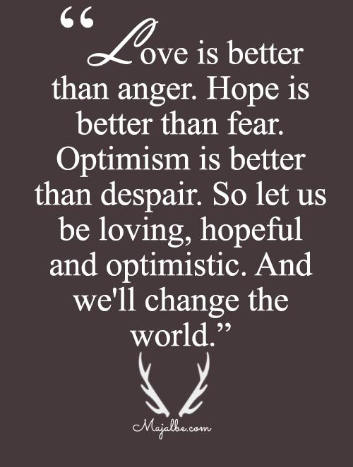 Loving, Hopeful And Optimistic