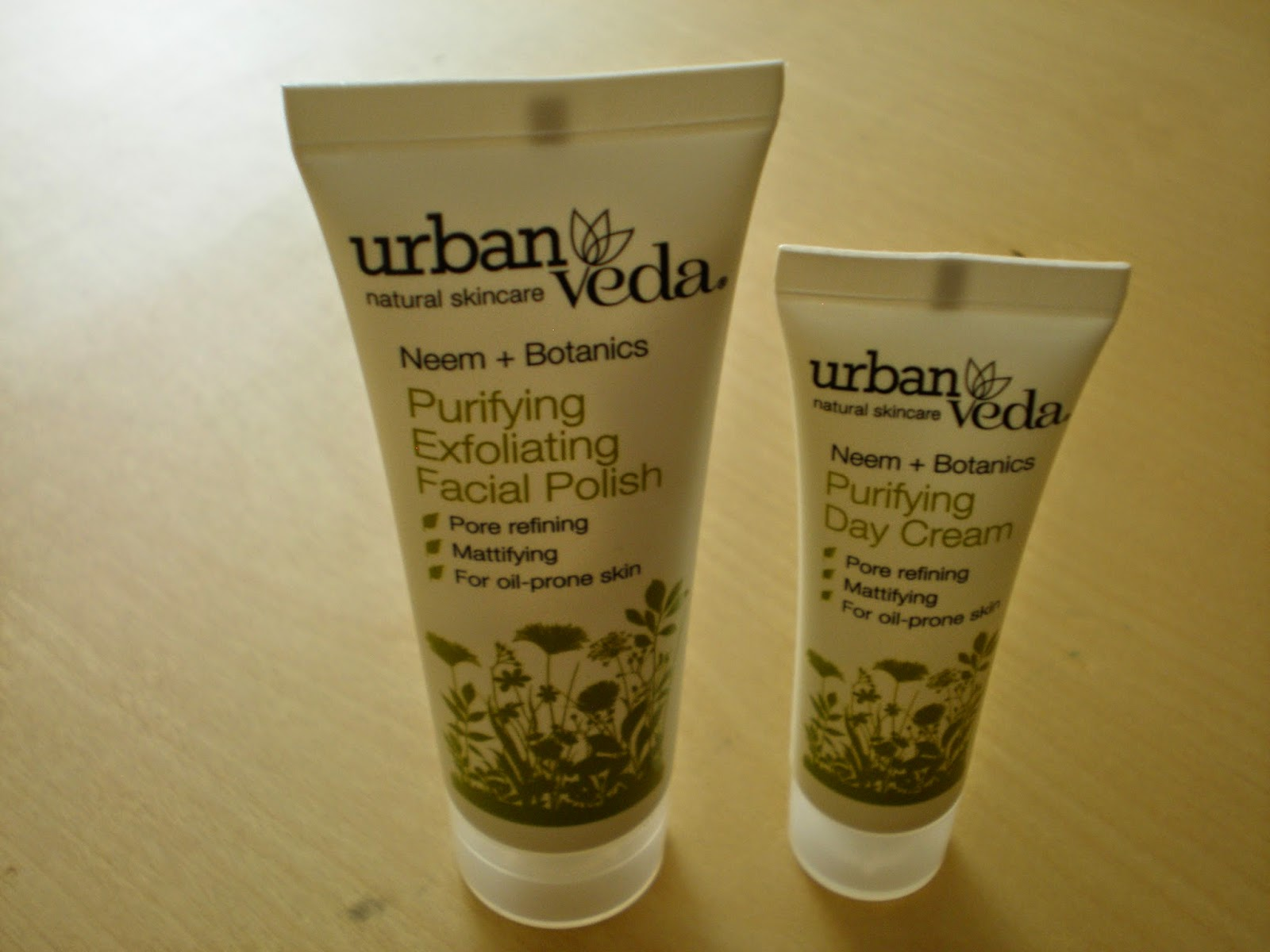 Urban Veda Purifying Exfoliating Facial Polish and Day Cream