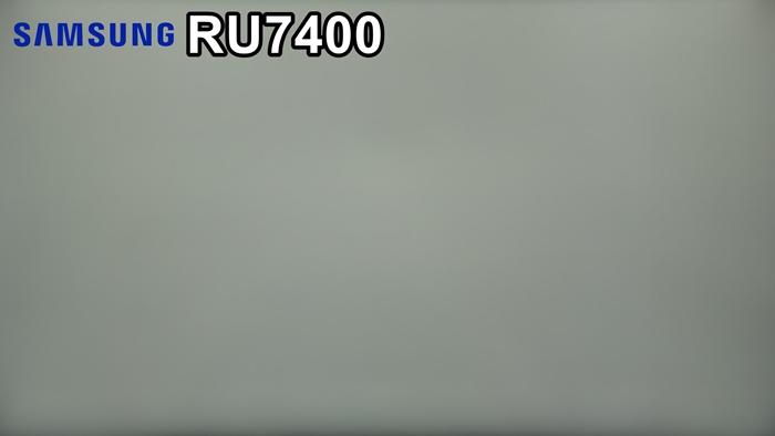 Samsung RU7400 uniformidad colores grises