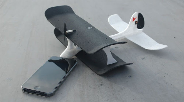 pesawat remote melalui smartphone, rc plane with smartphone,