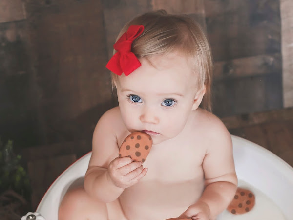 Cookies for Santa milk bath session with Anchor Images Photography
