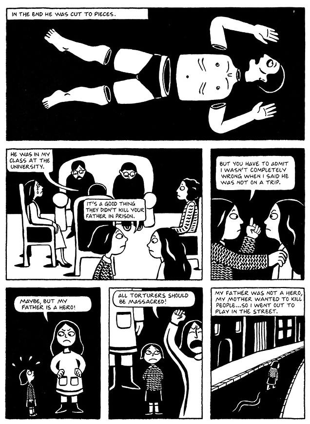 Read Chapter 7 - The Heroes, page 50, from Marjane Satrapi's Persepolis 1 - The Story of a Childhood