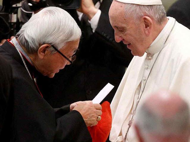 O Cardeal Zen já tinha entregue outra carta ao Papa Francisco alertando para os crimes anticatólicos que iriam ser cometidos