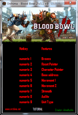 Trainer Blood Bowl 2 v3.1 +9 Multi Hack