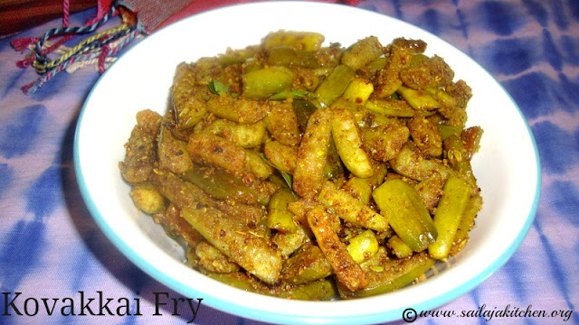 images of Kovakkai Podi Fry Recipe / Kovakai Fry Recipe / Ivy Gourd Fry
