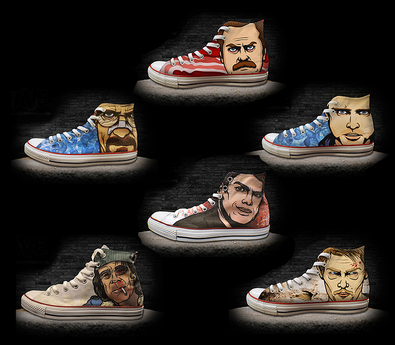 Is The Walking Dead A Sequel To Breaking Bad Youtube: Custom Kicks Feature Pop Culture Anti-Heroes From Breaking