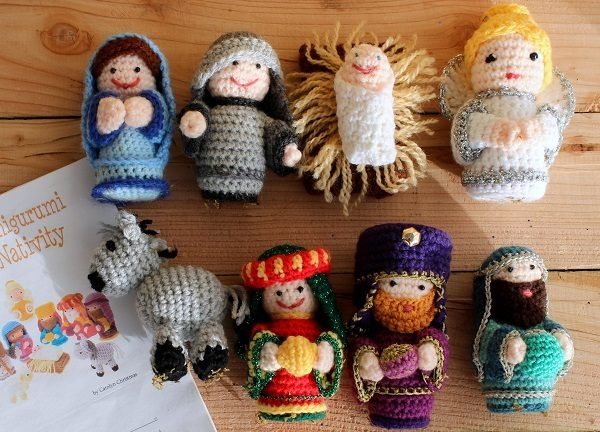 An oldie but a goodie, my crochet nativity scene... ? Lazy ...