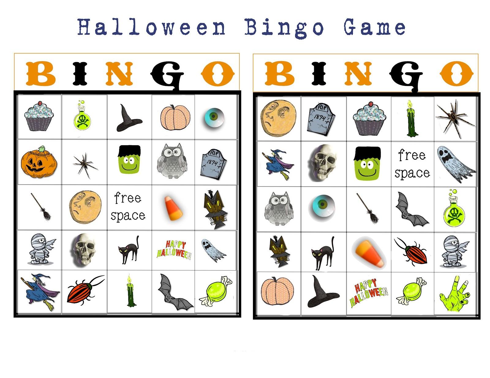 Bingo Buttercup Designs Free Halloween Picture Bingo