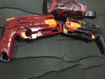 Súng đồ chơi Nerf Hammershot độ chế bọc carbon 2