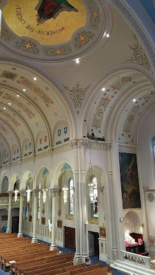 tall view of the Nave of Miraculous Medal Shrine, Philadelphia PA