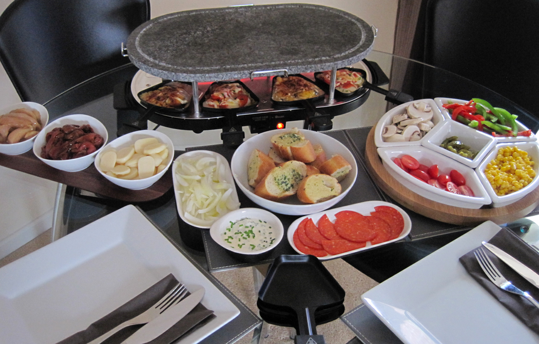 raclette dinner party recipe ideas a glug of oil. Black Bedroom Furniture Sets. Home Design Ideas
