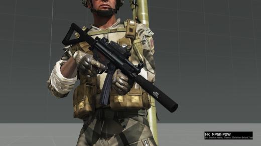 Arma 3用MP5 MODのMP5K PDW