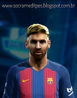 PES 2013 Messi V.3 HD Face by Socram