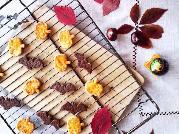 Sablés d'halloween orange et chocolat