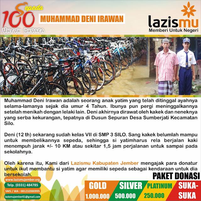 Aksi Donasi 100 Sepeda Putra Dhuafa