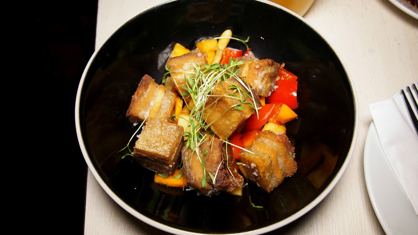 Pork belly and pickle
