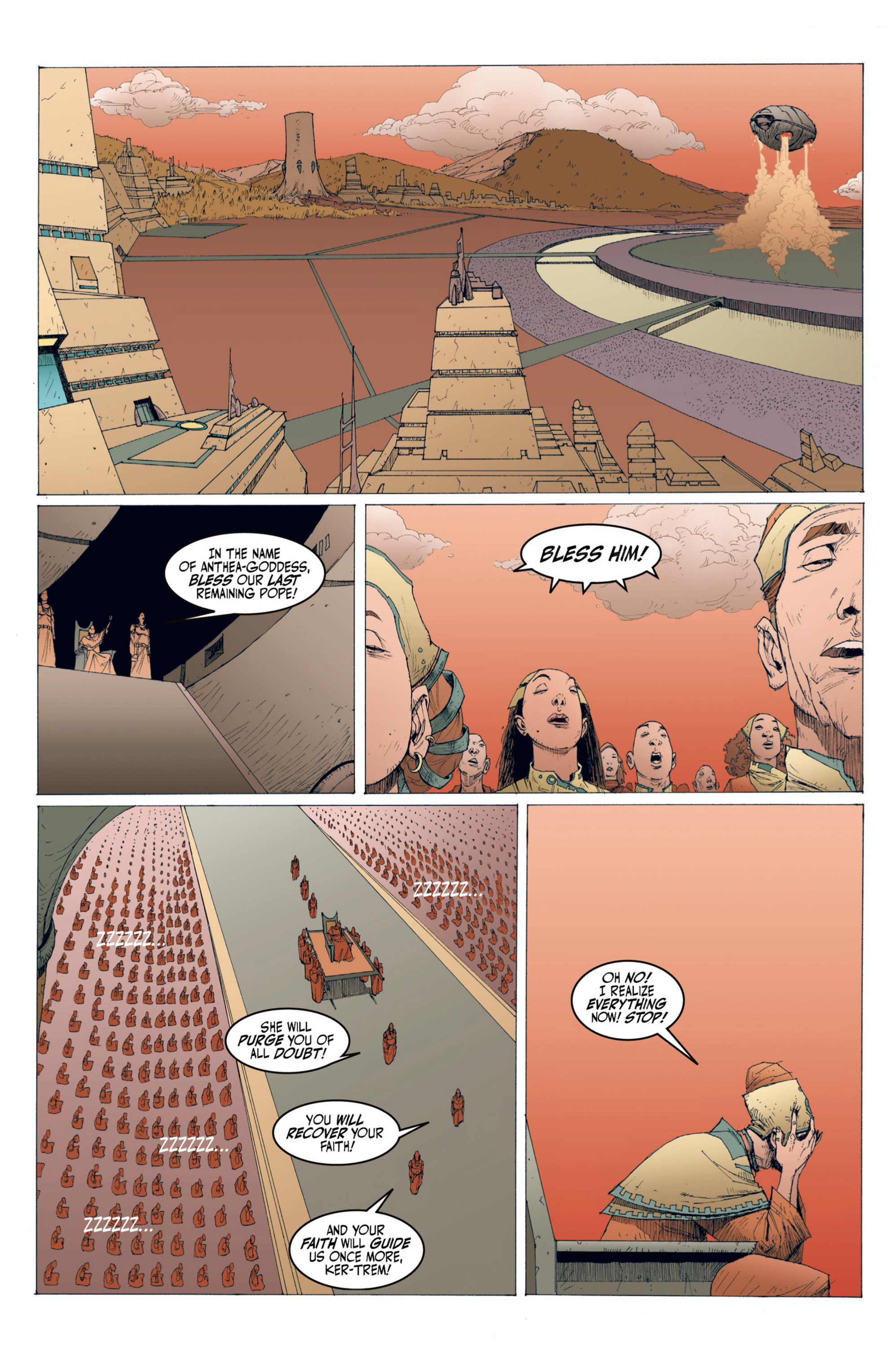 Read online Alejandro Jodorowsky's Screaming Planet comic -  Issue #1 - 54