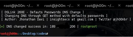 [ + ] DNS changed sucess in: 127.0.0.1 | user@password