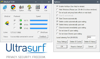 تحميل برنامج UltraSurf للحفاظ على خصوصيتك بشكل كامل