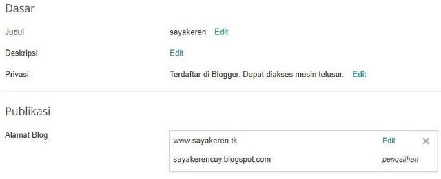 Postingan kali ini melanjutkan goresan pena saya yang sebelumnya yaitu  Cara Menghubungkan Domain dari Freenom ke Blogspot