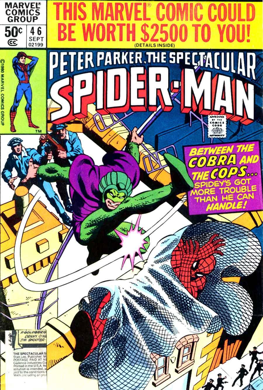 Spectacular Spider-man v2 #46 marvel 1980s comic book cover art by Frank Miller