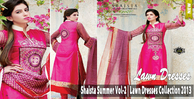 95f0b759fa29 Shaista Summer Vol-2 Lawn Dresses Collection 2013 | Stunning ...