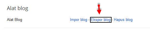 backup export all post blog