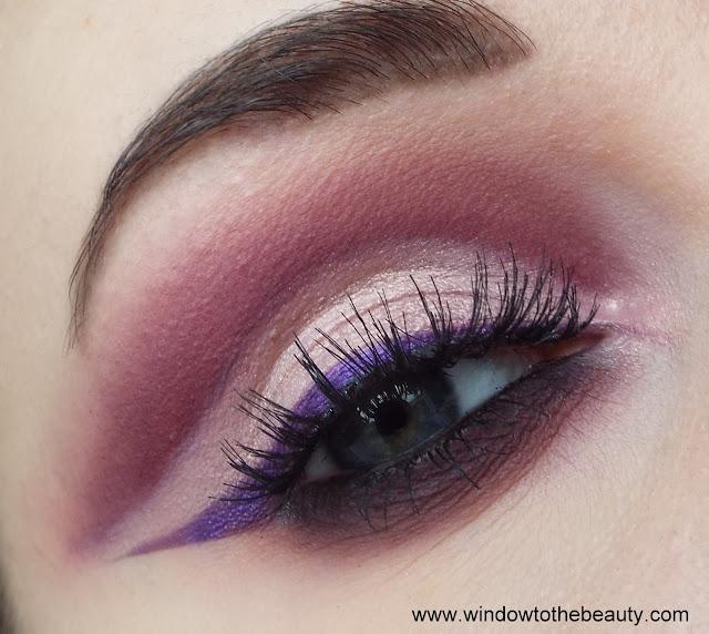 fioletowo rozowy makijaż