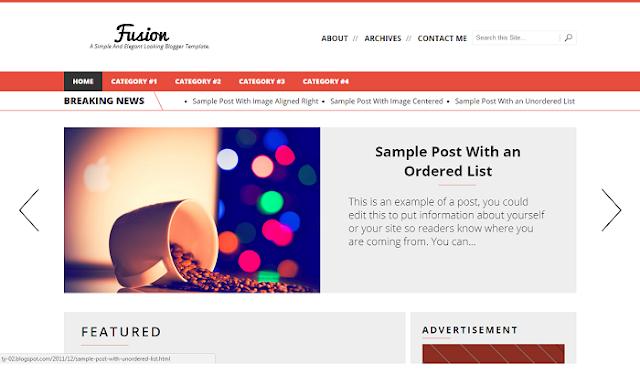 Fusion Blogger Teması