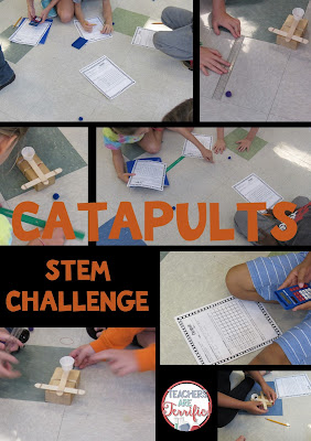 STEM Challenge: Another kid favorite! There is just something fantastic about making catapults! This challenge has the added benefit of testing and keeping data on the catapult distances. Kids then use their data to build versions of the catapult to complete distance challenges.