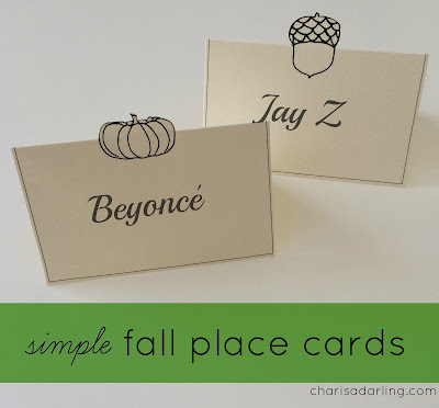 Thanksgiving Place Card Printables!