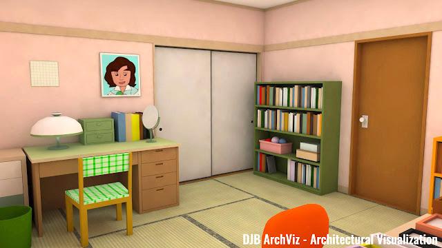 Chibi Maruko-chan's bedroom