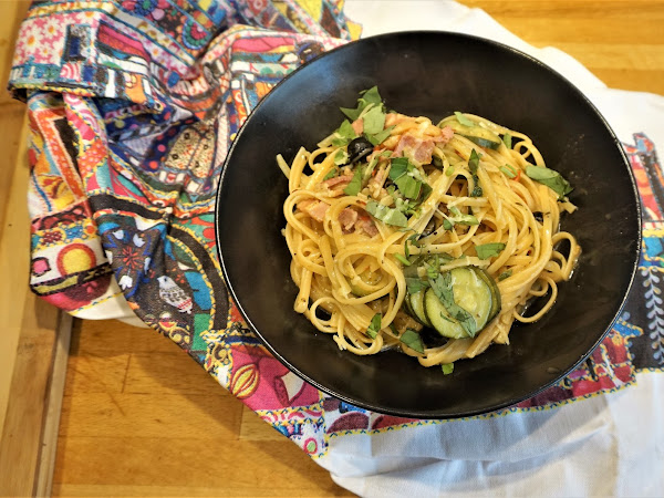 GOUSTO'S BACON AND COURGETTE ONE-POT PASTA
