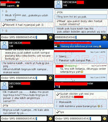 Bukti Order Body Slim Herbal