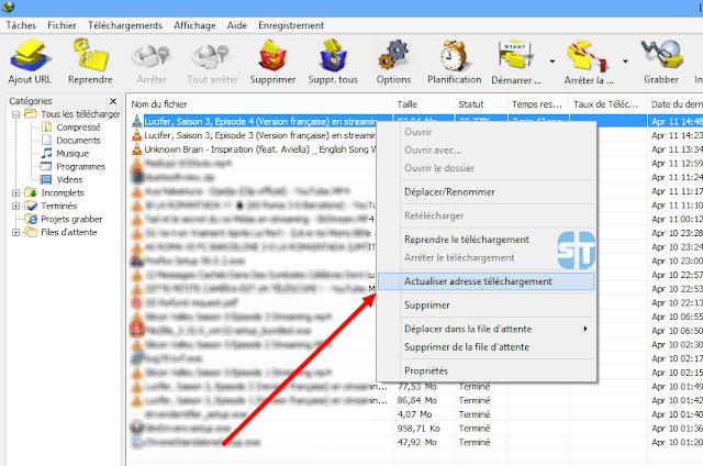 تحديث عنوان التحميل كيفية استئناف التحميل المتقطع في IDM