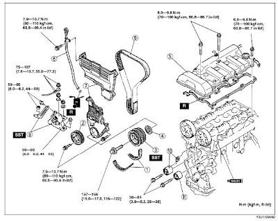 mazda protege engine internals diagram