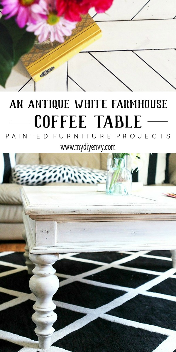 White Antique Coffee Table By My DIY Envy