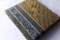 Harga Murah Kain Tenun Baron 1dimensi warna Kuning Emas