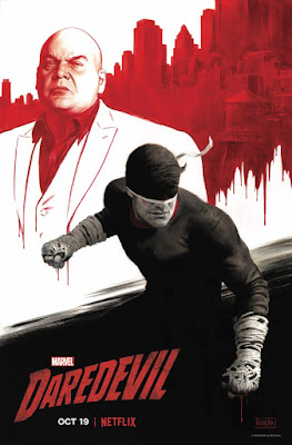 Marvel's Daredevil Television Series Season 3 Concept Art Poster by Paola Rivera x Netflix