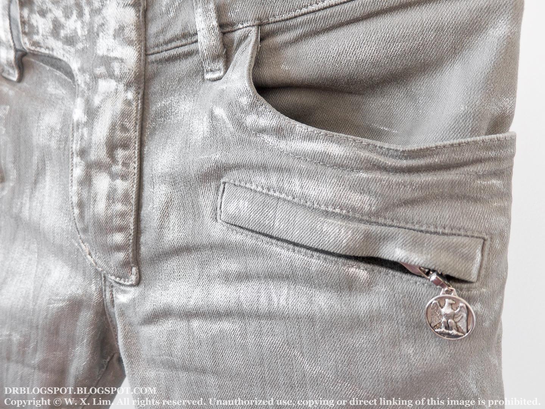 50778477 L41A – Balmain Silver Slim Biker Jeans – ¥ 126,000 (SOLD OUT)