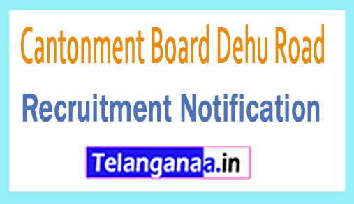 Cantonment Board Dehu Road Recruitment