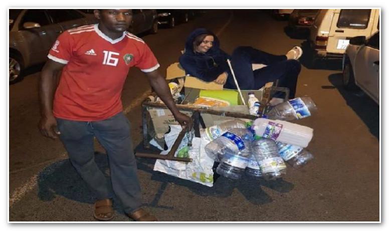 صورة للبنى أبيضار وسط النفايات تثير الجدل