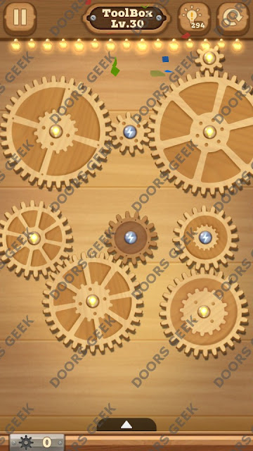 Fix it: Gear Puzzle [ToolBox] Level 30 Solution, Cheats, Walkthrough for Android, iPhone, iPad and iPod