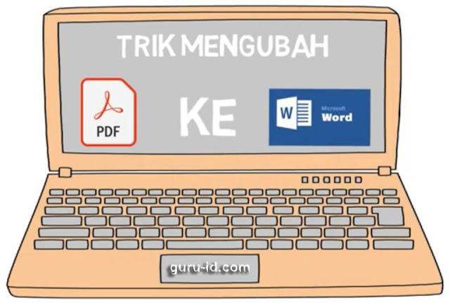 gambar cara ubah pDF ke word via online