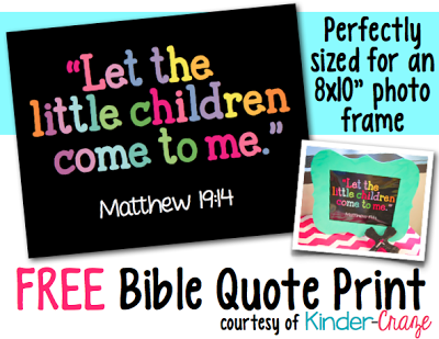 "Free ""Let the Children Come to Me"" inspirational print"