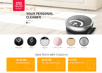 ILIFE SMART CLEANING ROBOTS SALE 11.11